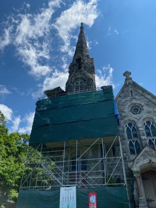 Stone Church Scaffolding